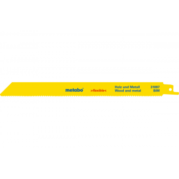 """Полотно для сабельных пил METABO для дерева и металла, серия """"Flexible"""", тип 31097, 100 шт. (625494000)"""